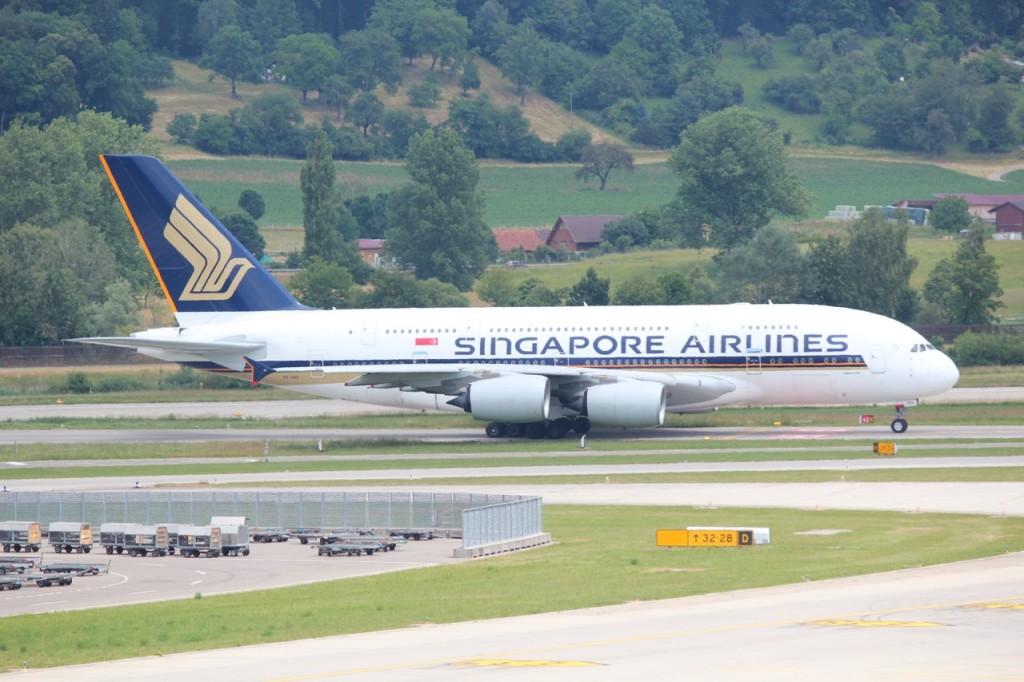 A380 Singapur in Zürich